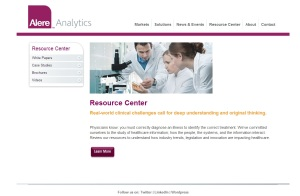 screengrab - resource center