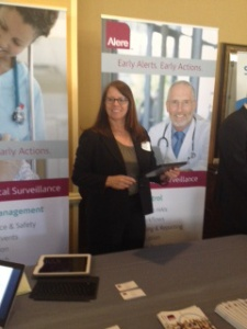 Our Clinical Sales Engineer, Lisa Powers, ready to demonstrate our CDS dashboard for APIC attendees.